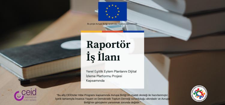 Raportör İş İlanı