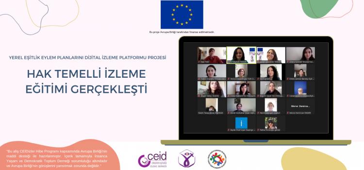 Proje İzleme Heyetine Yönelik Hak Temelli İzleme Eğitimi Gerçekleşti